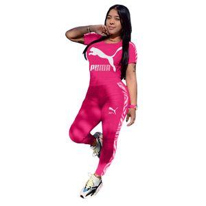 Les femmes Lettre de broderie Survêtement tendance à manches longues T-shirt Haut + Pantalon Legging 2PCS Set Jogger Vêtements de sport Costume Outfit BM3