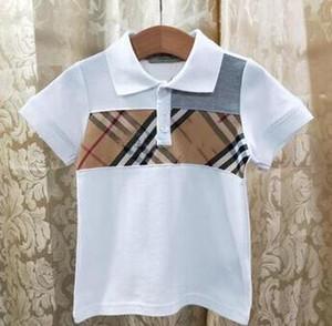 nouveau bébé garçon enfants vêtements fille vêtements de créateurs mode enfants revers chemises à manches courtes tee enfant T-shirt tops