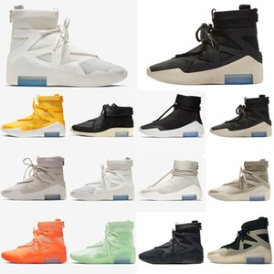 2020air 1 fear of god shoes off orange black and sneakers white sock trainers fog designer King ben jerry huarache mens womens running