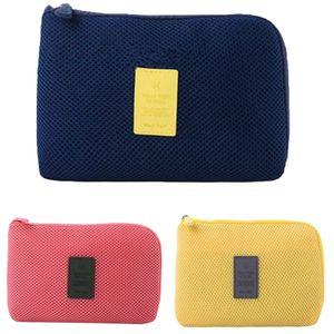 las mujeres viajes Organizador cosmético del bolso mini bolso portable del recorrido del maquillaje del cable del auricular Recibe bolsa de maquillaje de tocador paquete * 0.35
