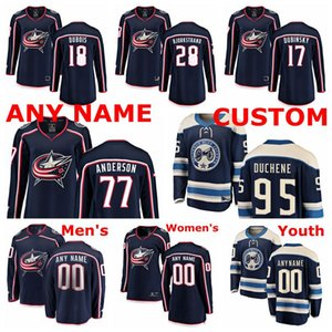 Columbus Blue Jackets Jerseys Josh Anderson Jersey Björkstrand Brandon Dubinsky Pierre-Luc Dubois Matt Duchene Ice Hockey Jerseys costurado