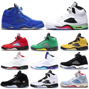 nike air jordan retro Aria Retro Giordania 5s 5 Scarpe da pallacanestro da uomo Fab SP Michigan Grape Laney TROPHY ROOM Sneakers sportive da uomo 7-13
