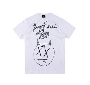 "İntikam XXXTENTACION ""Do not kill"" Tee hip-hop grafiti el boyaması kısa kollu yuvarlak boyun pamuk tişört S-XL"