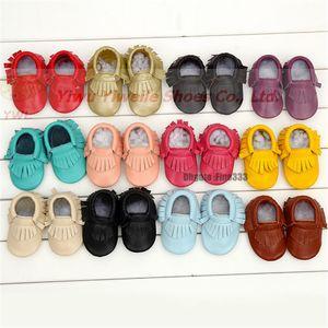 HONGTEYA 새로운 고무 단독 정품 가죽 여자 소년 수제 유아 하드 단독 첫 번째 워커 아기 가죽 모카신 신발 20 색