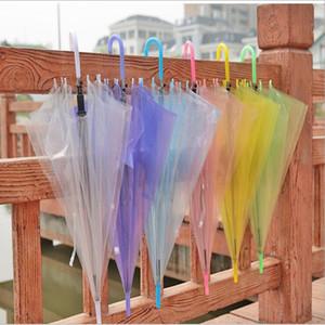 Performance Langer Griff Regenschirme Bunter Strand-Regenschirm für Herren Damen Kinder Kinder Regenschirme Transparenter freien Regenschirm YSY197-L