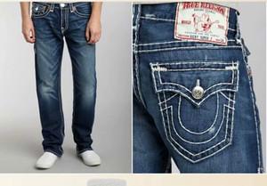 homens verão calças jeans rastrear suor calças crença verdadeira Grande Buda elásticas grossas dos homens da linha de calças de ganga