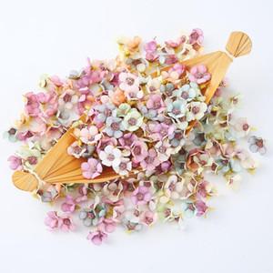 100pcs 2cm Multicolor Daisy capitules Mini soie artificielle Fleurs pour pas cher Couronne scrapbooking maison décoration de mariage