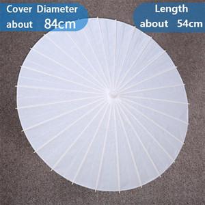 Свадебные свадебные зонтики белая бумага зонтики китайский мини-ремесло зонтик диаметр 20 30 40 60см свадебные зонтики для оптовых