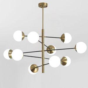8/10/12 Kafaları Postmodern Loft Moleküler Kolye Işık Sanat Yaratıcı Tasarımcı Cam Top Villa Otel Salonu Asılı Led Işıkları