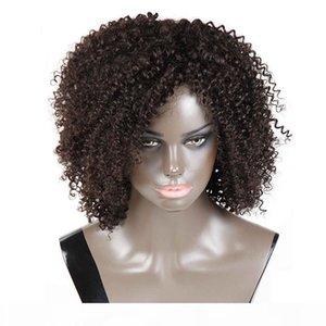 L Top vente Afro Kinky Curly perruques de cheveux humains pour les femmes noires Cheap Brésilien Afro Kinky Curly perruques de cheveux humains avec des cheveux de bébé