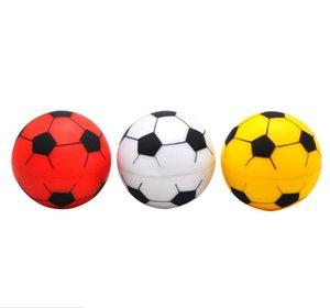 Neueste 2 Schichten 52mm Fußball Form Runde Grinder Kunststoff Tabak Kräuter Runde Grinder Spice Crusher Abrader Rauchen Zubehör
