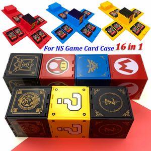 Am neuesten für Nintend Schalter Stoß- Game Cards Fall NS Hard Shell Box für Nitend Spiele Switch 16 Speicherzubehör in 1