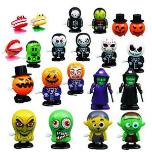 Uhrwerk Halloween Spielzeug Kürbis-Geist Uhrwerk Springen Spielzeug Mechaniker Lernspiel Prank Dekoration für Kinder Halloween Weihnachten Spielzeug OWA727