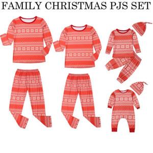 2019 Famiglia Corrispondenza di Natale Pajamas Set scherza Uomini di età Donne Cotton Sleepwear Xmas da notte rossa Casual Outfits autunno