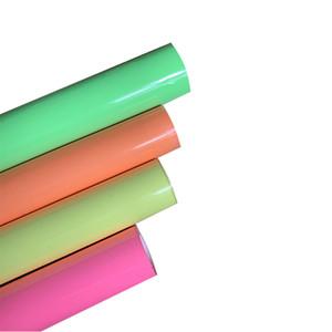 """Spedizione gratuita 1 foglio 10 """"x40"""" / 25cmx100cm Trasferimento di calore luminoso Vinyl Noctilucent Macchina per la macchina per la stampa di calore Tshirt in ferro su HTV Stampa DIY"""