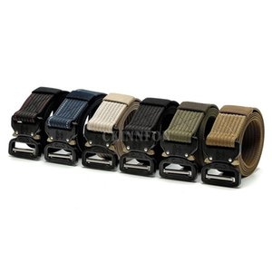 50Pcs Lot Metal Buckle Tactical Gear Heavy Duty Belt Nylon Swat Molle Padded Patrol Waist Belt Tactical Hunting Accessories