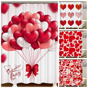 Día de San Valentín Plato de ducha del corazón del amor de la impresión 3D Digital cortina de ducha moho Prueba Inicio Hotel El uso de los hombres y las mujeres 30zy H1