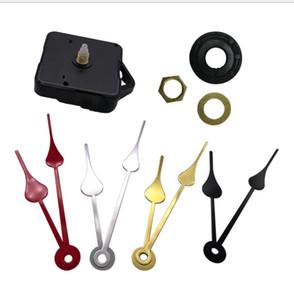 1 Set silencieux grand mur horloge à quartz Mouvement Mécanisme Noir Rouge Mains Repair Tool Kit de pièces Set de bricolage avec crochet Goutte