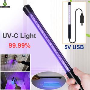 3W 5W Household UVC Desinfecção da vara LED Esterilizador Wand UV germicidas lâmpadas Germs Bacteria Killer Desinfecção Luz