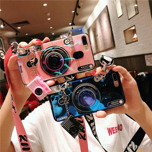 Mit Airbaghalterung Kameramuster Telefonkastenabdeckung für iphone XS max Xr X 7 7PLUS 8 8plus 6 6Plus TPU Silikon Hülle mit Lanyard