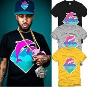 trasporto degli uomini liberi di alta qualità delle donne della maglietta rosa delfino abbigliamento hip hop t-shirt nuovo arrivo Dolphin Questa T-shirt di cotone B770608
