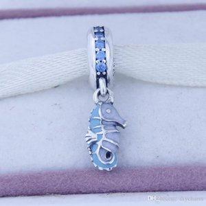 perline Loose Fit per Pandora Bracciali Argento 925 Perle Tropical Seahorse Charm Ciondolo fai da te produzione di gioielli di moda per le donne 1PC