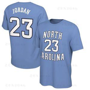 NCAA North Carolina Tar Heels Tişörtlü 15 Carter The Last Dance 23 Michael MJ Erkek tişört Koleji Tees Baskılı Pamuk Boyun Tops