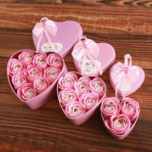 Мода сплошной цветок розы сердце душистые ванны тела лепесток мыло свадьба фаворит подарок День Святого Валентина