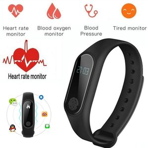 Heart Band Wrist IOS Oximeter Blood Smart Pressure Smart Band Sport Bracelet Watch Oxygen Bluetooth Sports Rate For M2 Android Hwfcd
