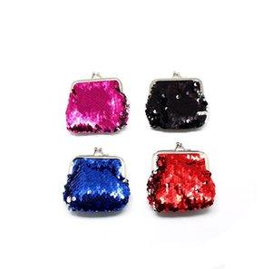 Korean Sequins Buckle Coin Purse Women Fashion Shiny Purses Mini Wallet Girl Change Purse Key Jewelry Storage Bag Coins Pouch