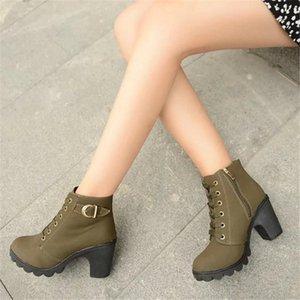 2021 женская обувь2019 новая женская обувь короткая сапоги женские сапоги женские женские сапоги женские ботинки пряжки ремня толстые с обувь женщин