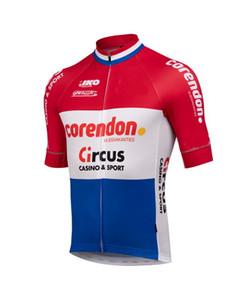 2019 CORENDON CIRCUS PRO TEAM 2 ألوان فقط قصيرة الأكمام روبا CICLISMO قميص CYCLING JERSEY CYCLING ارتداء الحجم: XS-4XL