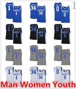العرف NCAA ديوك الزرقاء الشياطين كرة السلة بالقميص ويندل كارتر الابن 34 صهيون ويليامسون 1 ندل مور الابن 0 أي اسم عدد حجم S-5XL