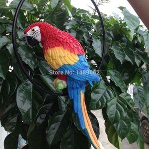 La decoración del jardín, jardín al aire libre que cuelga la decoración del árbol de Animales, Simulación del pájaro del loro Adornos Resina Artesanía