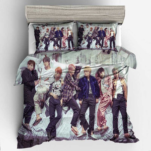 BTS Dropshipping 3D Bedding Set Queen Size Duvet Cover set comforter cover set bedclothes Home room Textiles