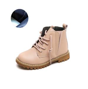 Botas de diseño niños Colores sólidos Martin botas de los niños británicos de moda Martin botas para la nieve niñas de lujo de zapatos de explosión 2020 Nuevo