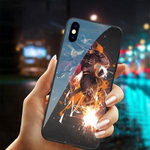 Freies Verschiffen tpu + gehärtetem Glas für LOL Design yasuo Khada Jhin Riven Telefonkasten für iphone X XR XS MAX 7 6 6S 8 plus 11 pro MAX Abdeckungen