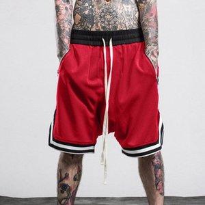 Мужские шорты упругие веревки эластичной сетки Streetwear Спорт Бег Брюки Мужчины Hip Hop Брюки Streetwear Pant бермуды masculina