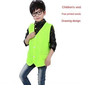aZR4Z publicité destinée aux enfants bénévoles culturels sur mesure l'impression de la publicité pour enfants gilet chemise gilet personnalisé gilet shi culturel