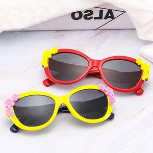 Children Sunglasses Boys Girls Kids Silicone Safety Flower Polarized Sun Glasses
