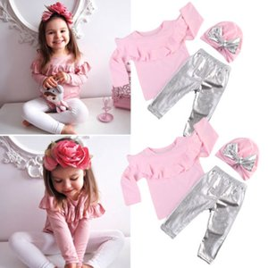 Girl Suit 6M-5Y Newborn Kid Baby Girls Long Sleeve Tops+Pants+Hat Outfits Set Clothes 2020