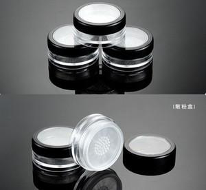 300pcs kozmetik makyaj sn150 için büküm kadar elek toz kabı teneke ile elek döner taşınabilir gevşek toz kavanoz 10 g