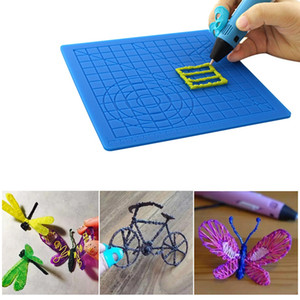 Impression 3D multi-usages Pen Modèle silicone souple Mat dessin 3D Outils enfants Conseil Copie cadeau avec doigtier 3D pPrinter Accessoires