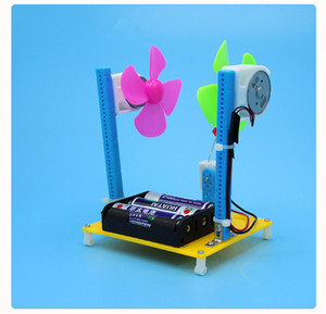 Pupil Science Popularization Experiment Wind Turbine Hand-made Small Inventions Package Assembly Material
