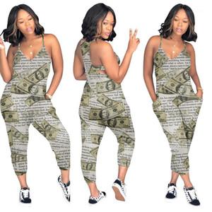 Womens tute Capris Cotone Femminile Ins Stile Body Fashion Casual pagliaccetti estate Sashes Gradient
