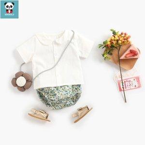 Camisa Pequeño bebé recién nacido ropa de niño de los calzoncillos de la flor imprime 2pcs set Las nuevas llegadas