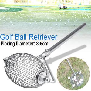 Desmontable Pelota de golf Picker 3-6cm Soporte Red de recogida de acero inoxidable