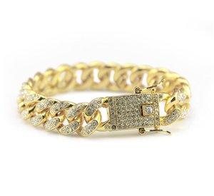 Braccialetti dell'astantatore del rapper del diamante dell'oro di usura di via del rapper di Hip Hop per gli uomini i braccialetti del progettista degli uomini di modo blu di notte