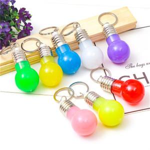Светодиодные лампы ключ пряжки люминесценция маленькие игрушки брелки оригинальность лампы кулон ключи Кольцо держатель продвижение подарки 0 75zf H1