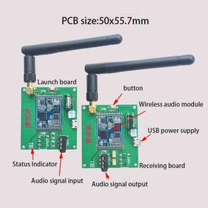 Freeshipping 2,4G HiFi-Stereo-Wireless-Transceiver-Transponder-Modul 20Hz-20KHz Transceiver + Transmission Board-Modul 1 Paar
